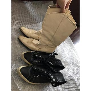 ジーヴィジーヴィ(G.V.G.V.)のGVGV ウエスタン レザー ブーツ スニーカー セット まとめ売り レディース(ブーツ)