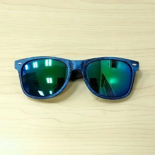 新品 サングラス レイバンタイプ ブルー【現品限り】限定値下げ8888→4500(サングラス/メガネ)