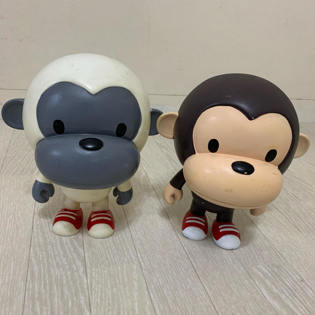 A BATHING APE(アベイシングエイプ)のAPE サル 猿 人形 フィギュア インテリア ヴィンテージ ベアブリック インテリア/住まい/日用品のインテリア小物(置物)の商品写真