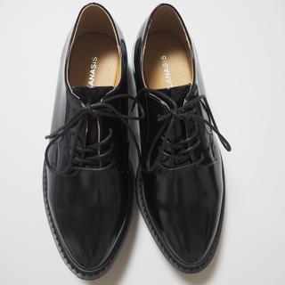ジーナシス(JEANASIS)のjeanasis ジーナシス 厚底 靴 レースアップ シューズ ブラック M(ローファー/革靴)