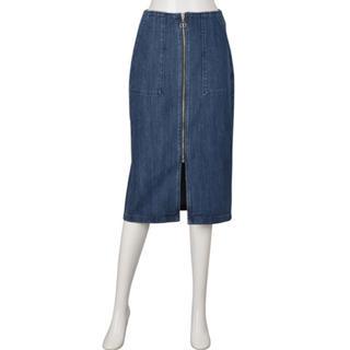 GU - フロントジップデニムタイトスカート