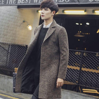 チェスターコート ロングコート Pコート HARE系 韓国系 トレンド 冬服(テーラードジャケット)
