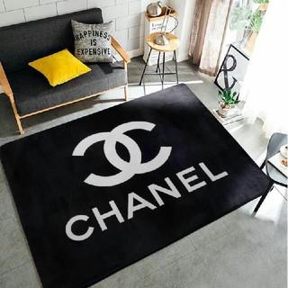 chanel 滑り止め付長方形 室内対応 洗えるサイズ:150cmx200cm