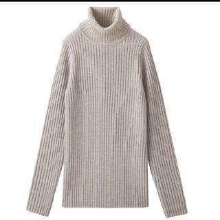 MUJI (無印良品) - 美品☆無印良品 ワイドリブ 洗えるタートルネックセーター S