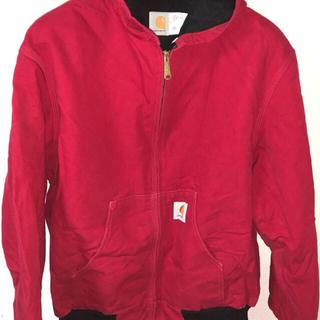 カーハート(carhartt)のCARHARTT フーディーアクティブジャケット 赤 XL(ブルゾン)