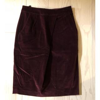 インコテックス(INCOTEX)の美品定価3万インコテックスタイトスカート(ひざ丈スカート)
