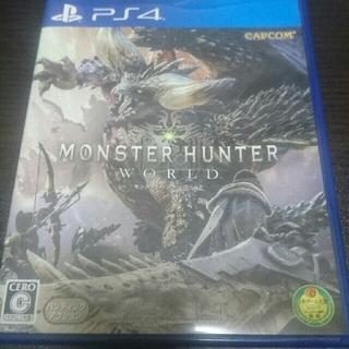 プレイステーション4(PlayStation4)のPS4ソフト モンスターハンターワールド 若干折れあり(家庭用ゲームソフト)