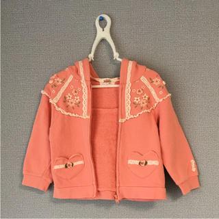 スーリー(Souris)のスーリー 花柄刺繍パーカー(ジャケット/上着)