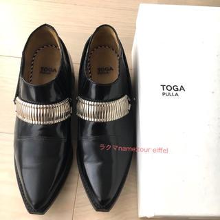 トーガ(TOGA)のトーガプルラ TOGA PULLA メタルウエスタンシューズ 黒 38(ローファー/革靴)