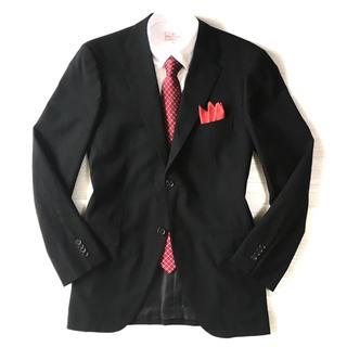 ユナイテッドアローズ(UNITED ARROWS)の極美品★ユナイテッドアローズ☆ブラック織り柄ウールジャケット☆52(XL☆482(テーラードジャケット)