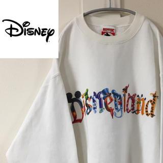 ディズニー(Disney)の[激レア] USA製 90s ディズニーランド デカロゴ スウェット(スウェット)