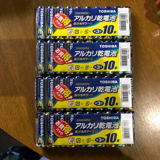 東芝 - アルカリ乾電池単3型 40本(10本x4)