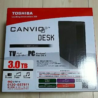 トウシバ(東芝)の新品 未使用品 東芝  3TB外付けハードディスク  HD-ED-B30TK(その他)