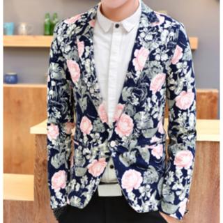 ☆SALE☆【新品】 ユニセックス 花柄テーラードジャケット 男女兼用(テーラードジャケット)