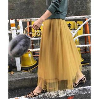 アメリヴィンテージ(Ameri VINTAGE)のameri vintage チュール スカート(ロングスカート)