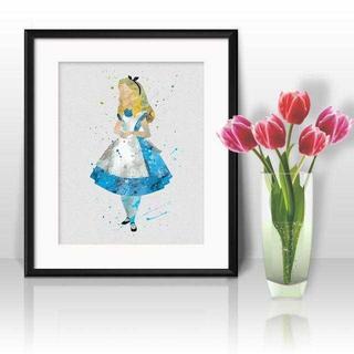 Disney - アリス(不思議の国のアリス・アリスインワンダーランド)アートポスター【額縁つき】