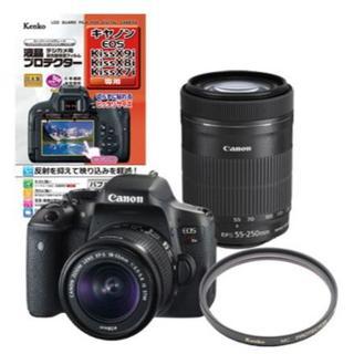 キヤノン(Canon)の新品未開封 EOS Kiss X8i ダブルズームキット オマケつき(デジタル一眼)