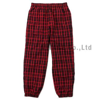 シュプリーム(Supreme)のSupreme Nylon Plaid Track Pant 赤S(その他)