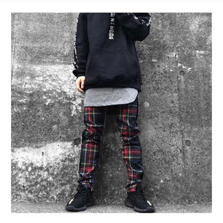 mnml PLAID TRACK PANTS BLACK ブラック(その他)