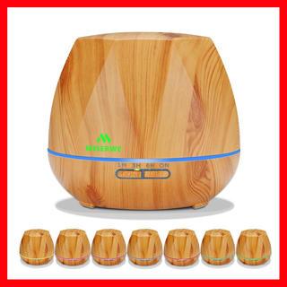 【迷わずコレ!】アロマディフューザー 超音波式 加湿器 7色変換LED