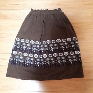 ミナペルホネン(mina perhonen)の美品ミナペルホネン minaperhonen pathランドリースカート(ひざ丈スカート)