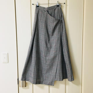 ムルーア(MURUA)のラップデザインチェックロングSK(ロングスカート)