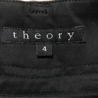 セオリー(theory)の★theory (セオリー)★センタープレス美ライン黒パンツ サイズ4(カジュアルパンツ)