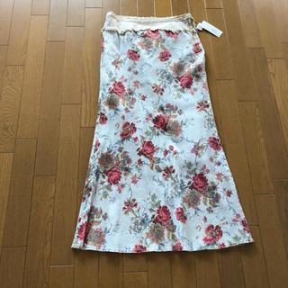 マティエ(MATIERES)の花柄ロングスカート matieres  新品未使用タグ付き (ロングスカート)