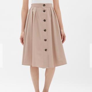 ジーユー(GU)の《美品》GU * フロントボタンスカート(ひざ丈スカート)