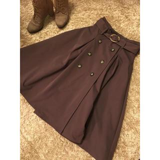 ダズリン(dazzlin)のdazzlinミモレ丈トレンチスカート ブラウンS(ひざ丈スカート)