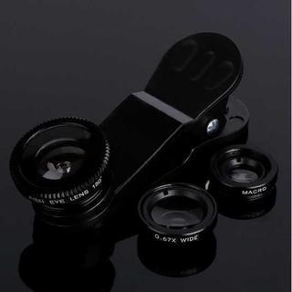 【送料無料】 セルカレンズ iPhone スマホカメラレンズ (ブラック)(その他)