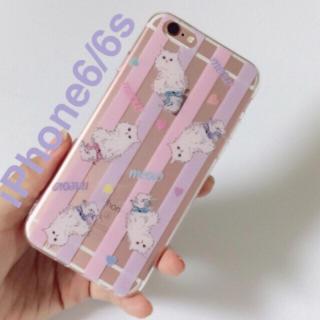 新品★iPhone6/6s*ペルシャ猫のイラスト パステルカラー(iPhoneケース)