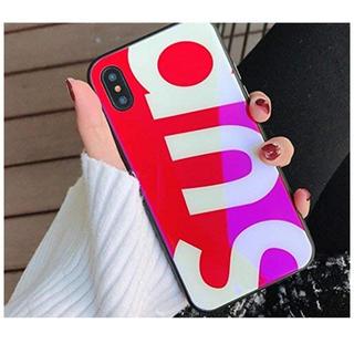 Supreme(シュプリーム) iphoneケース   (レッドiphoneX)(iPhoneケース)