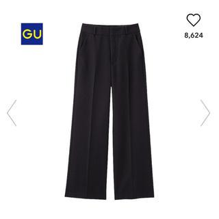 ジーユー(GU)の新品 タグ付き ♡ GU センタープレス ワイドパンツ(バギーパンツ)
