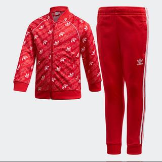 アディダス(adidas)の新品 アディダス ジャージ 上下 セットアップ キッズ 赤 120(その他)