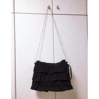 カシータ(casiTA)のフリルバッグ 黒(ショルダーバッグ)