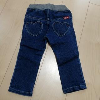 チッカチッカブーンブーン(CHICKA CHICKA BOOM BOOM)の90 未使用 デニムパンツ ズボン 女の子チカチカブンブン ワールド(パンツ/スパッツ)