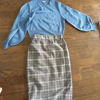 ジーユー(GU)のセーターとスカートのセット(セット/コーデ)