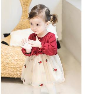 ザラ(ZARA)の子供服 ベビー服 キッズ ワンピース 赤 レッド イエロー 黄色(ワンピース)