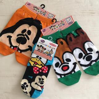ディズニー(Disney)の【Disney】靴下 ミッキー ミニー ドナルド グーフィー チップ&デール ♪(ソックス)