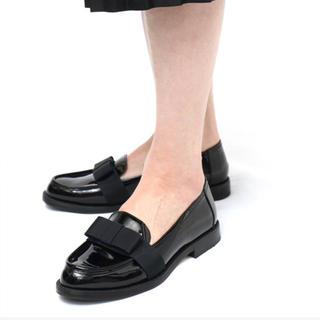 ディエゴベリーニ(DIEGO BELLINI)のDIEGO BELLINI ♡ リボンローファー 黒 (ローファー/革靴)