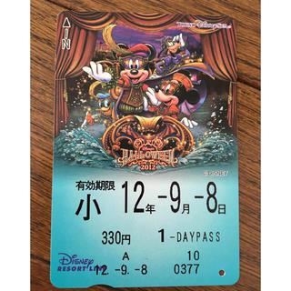 ディズニー(Disney)のディズニーリゾートライン 使用済パス  2012ハロウィン(遊園地/テーマパーク)