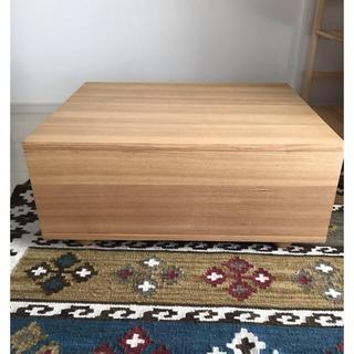 MUJI (無印良品) - 無印★ユニットソファボックステーブル★タモ材