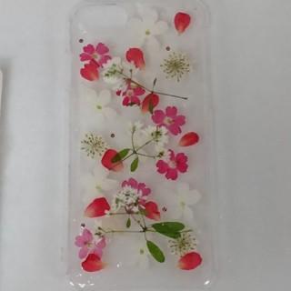 iPhone7/8用 スマホケース 赤×白(iPhoneケース)