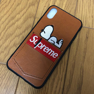 シュプリーム(Supreme)のiPhoneX  ケース ☆新品(iPhoneケース)