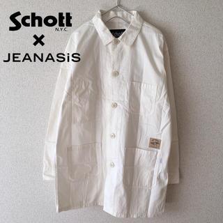 美品 SCHOTT × JEANASIS カバーオール 白 メンズ