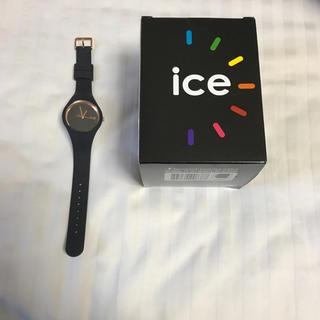 アイスウォッチ(ice watch)のice watch ウォッチ 時計 黒 ピンクゴールド メンズ レディース(腕時計)
