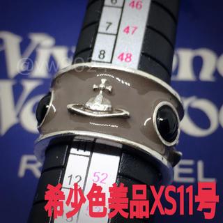 ヴィヴィアンウエストウッド(Vivienne Westwood)の美品✨キングリング xs 11号 グレー(リング(指輪))