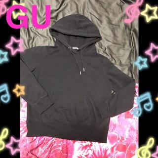 ジーユー(GU)のGU パーカー トレーナー Lサィズ 黒 ブラック♡(パーカー)