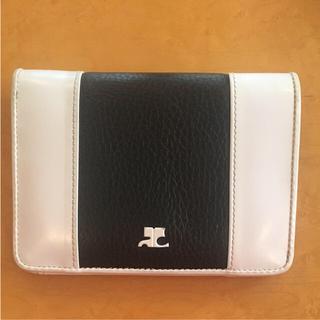 クレージュ(Courreges)のクレージュ 財布 二つ折り財布 白黒バイカラー(財布)